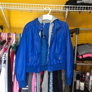 Royal Blue Pleather Jacket from TJMaxx
